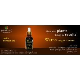 Warss Night Serum with a whiff of Saffron - 30 ml